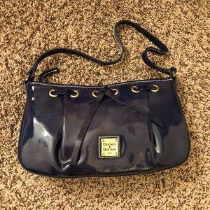 D&B navy patent bow handbag